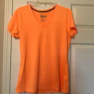 Orange Nike Dri-Fit V Neck t-shirt medium NWOT